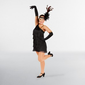 Black Sequin Flapper Dress Adult One Size