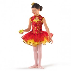 Far Eastern Red & Gold Tutu