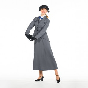 Nanny Costume Adult One Size (Red Bow Tie)