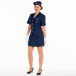 Military Uniform Top, Skirt & Hat