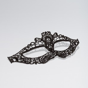 Black Cut Out Lace Eye Mask