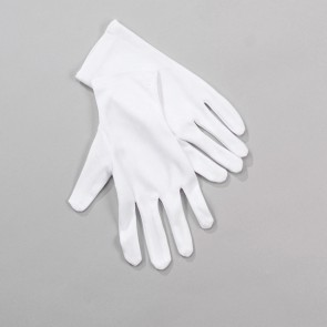 White Short Gloves - Adult