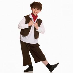 Disfraz de niño victoriano (marrón)