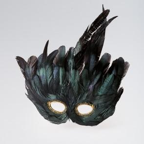 Maschera di Piume (Nero)