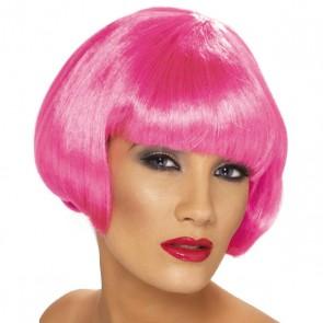 Perruque Carré Plongeant Flo Pink