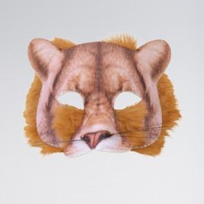 Digital bedruckte Löwenmaske mit Fell