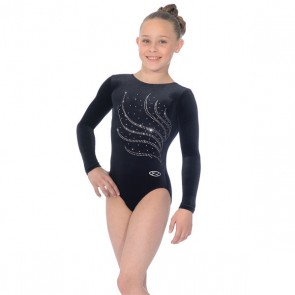 The Zone Tiara Round Neck Long Sleeve Leotard