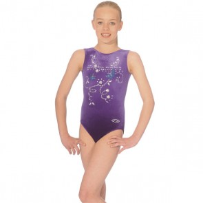 The Zone Panache Round Neck Sleeveless Leotard