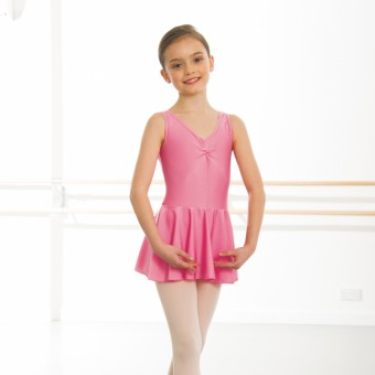 1st Position - Maillot Amy con Falda (Licra) (Light Raspberry)