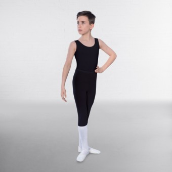 1st Position Male Sleeveless Scoop Neck Leotard (Black)