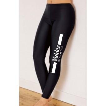 PP *#141145#* 1st Position Footless Tights Nylon (Black) with Valdez Gymnastics Club Logo