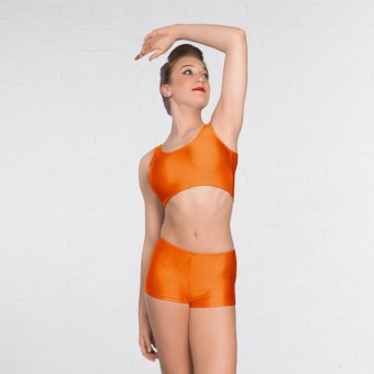 1st Position Hot Pants Nylon (Orange)