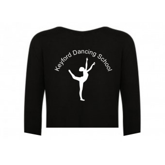 PP *#261108#* 1st Position Boat Neck Warm Up Top with Avon and Keyford Dance Logo - KEYFORD LOGO