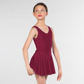 1st Position Circular Skirt (Burgundy)