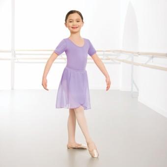 1st Position Wrapover Chiffon Skirt (Lilac)