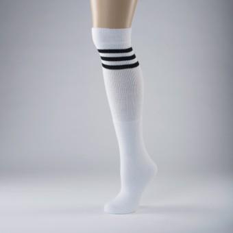 Hip Hop Socks Adult One Size White/Black Stripe