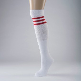 Hip Hop Socks Adult One Size White/Red