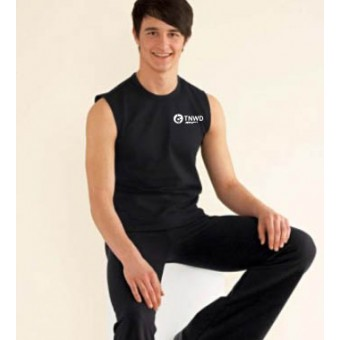 Men's Sleeveless T-Shirt (Black) with TNWD Performing Arts Logo