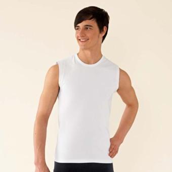 Men's Sleeveless T-Shirt (White)