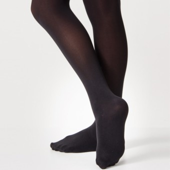 Silky Ballet Full Foot Tights (Black)