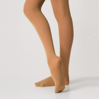 Silky Ballet Full Foot Tights (Tan)