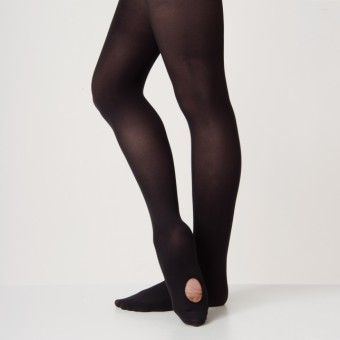 Silky Ballet Convertible Tights (Black)