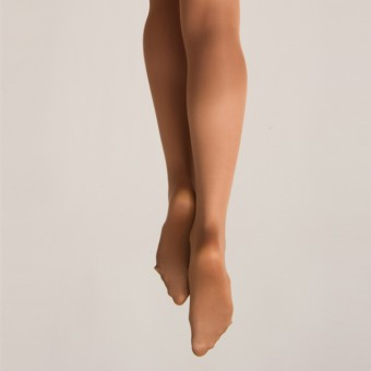 Silky Dance Shimmer Full Foot Tights (Toast)