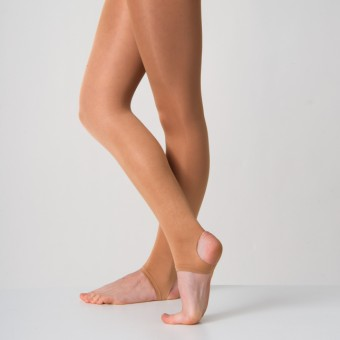 Silky Dance Shimmer Stirrup Tights (Toast)