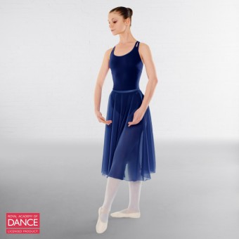 Little Ballerina RAD Approved Circular Poly Chiffon Skirt (Navy Blue)