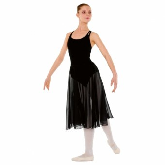 Little Ballerina RAD Approved Circular Poly Chiffon Skirt (Black)