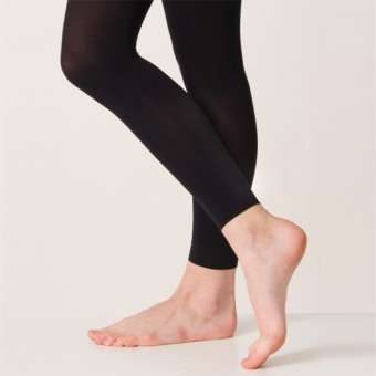 Silky Footless Ballet Tights (Black)