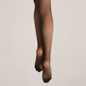 Silky Fishnet Tights (Black)