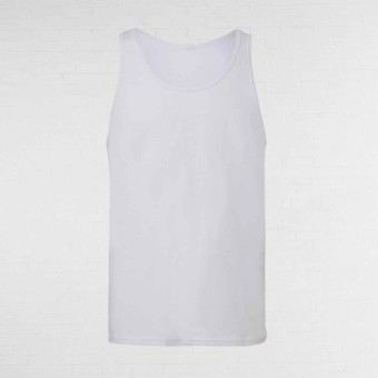 Unisex Tank Top White Size Small