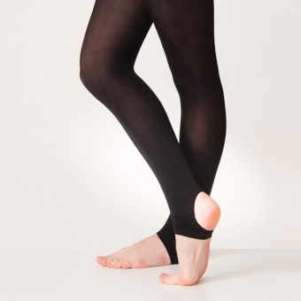 Silky Matt Stirrup Tight (Black)