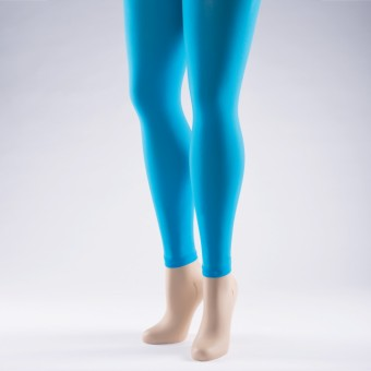 Footless Tights 40 Denier - Adult One Size Turquoise