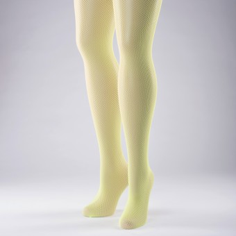 Fishnet Tights Adult One Size Flo Yellow
