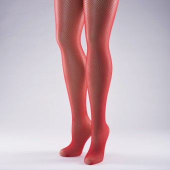 Fishnet Tights Adult One Size Red