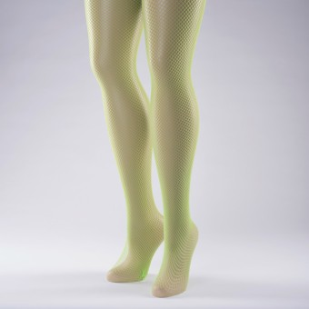 Fishnet Tights Adult One Size Flo Green