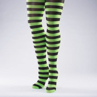 Striped Tights Flo Green