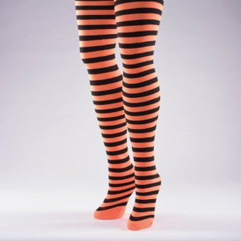 Striped Tights Orange