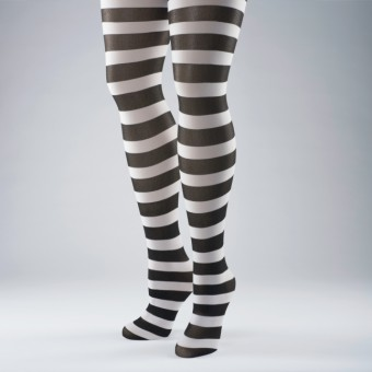 Striped Tights Black/White