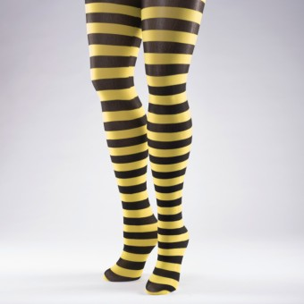 Striped Tights Yellow