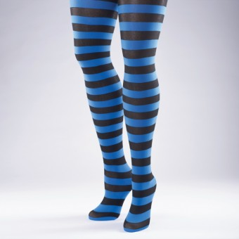 Striped Tights Flo Blue