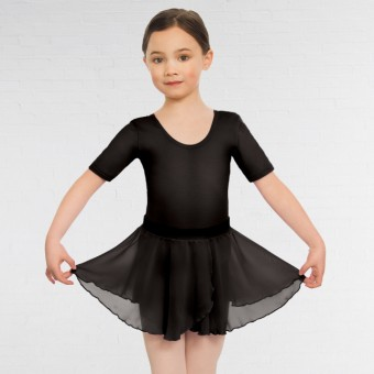 Child Pull On Georgette Skirt (Black)