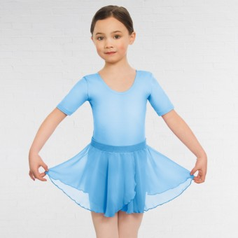 Child Pull On Georgette Skirt (Pale Blue)