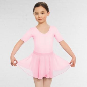 Falda de niña de tela georgette sin cierres (Pink)
