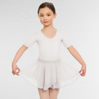 Child Pull On Georgette Skirt (White)