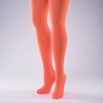 50 Denier Opaque Tights - Adult One Size Flo Orange