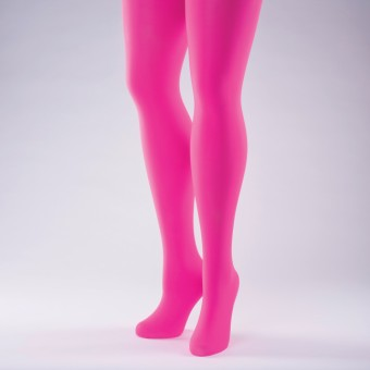 50 Denier Opaque Tights - Adult One Size Flo Pink