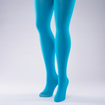 50 Denier Opaque Tights - Adult One Size Flo Turquoise